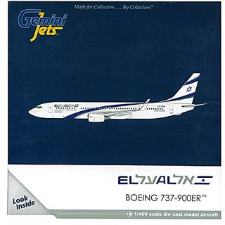 Gemini Jets El Al 737-900ER Die Cast Aircraft (1:400 Scale)