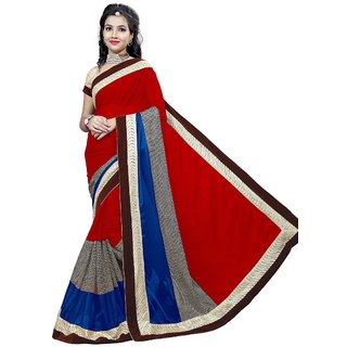 RK FASHIONS Pink Lycra Party Wear Printed Saree With Unstitched Blouse - RK219612