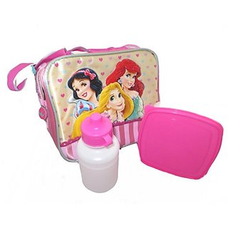 Disney Princess Insulated Lunch Bag, Bottle and Sandwich Box Set