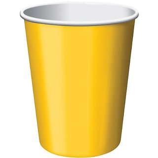 Paper Hot & Cold Cups 9 Ounces 8 Pkg-Yellow