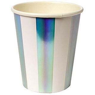 Meri Meri Foiled Stripe Party Cups 45-2456, Set of 8