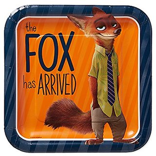 American Greetings Zootopia Square Plate (8 Count), 9