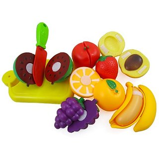 Cutting Fruits Cooking Playset for Kids with Cutting Board