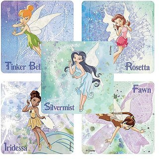Disney Fairies Stickers - Party Favors - 75 per Pack-5 different designs in each box, 15 of each design - $0.08 per sti