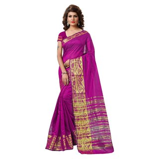RK FASHIONS Pink Tissue Party Wear Printed Saree With Unstitched Blouse - RK231302