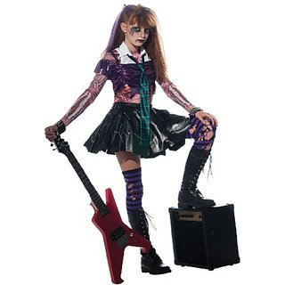 Girl Zombie Punk Rocker #2 Costume, Large