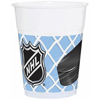 NHL Ice Time 14 oz. Plastic Cups 8 Pack