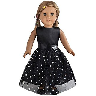 Ebuddy  Black Butterfly Doll Dresses Clothes Fits 18 Inch Doll