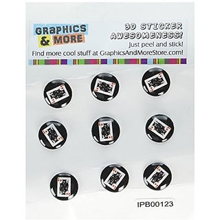 Awesome 3D home button stickers-Fits iPhone, iPad, iPad mini and iPod touch (see description)-Set of 9 3D button sticke