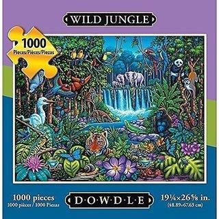 Wild Jungle 1000 Piece Puzzle by Dowdle Folk Art
