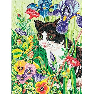 Dimensions Needlecrafts Paintworks Pencil by Number, Kitty In Flowers