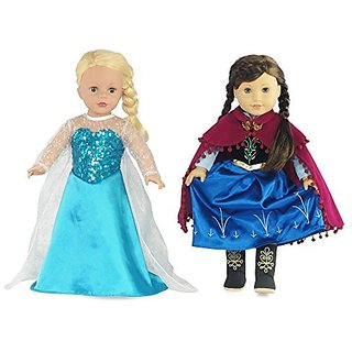 Made to fit 18 Inch dolls such as American Girl, Madame Alexander, Our Generation, etc.-Includes Princess Elsa inspired
