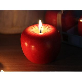 1Pcs Set Apple Modeling Candles High Simulation Fruit Candles Christmas Gifts Birthday Gifts Holiday Items