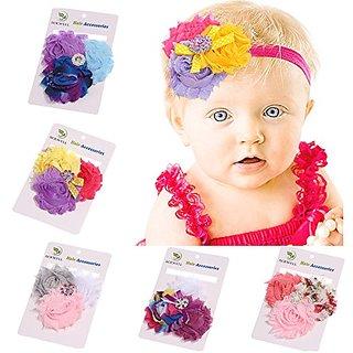 ROEWELL 5 Pcs Babys Headbands Girls Hair bows Hairband Head Wrap (5 Pack)