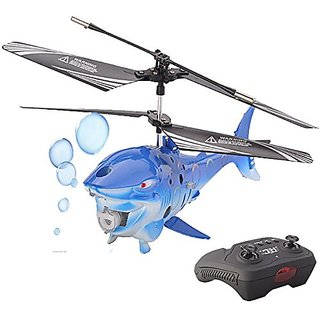 Top Race 3.5 Channel Bubble Blowing RC Shark Fish Helicopter