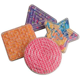 Lot Of 12 Assorted Color And Design Mini Maze Puzzle Games