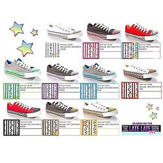 Self-adhesive rhinestone sticker strips-Durable, flexible and removable-One Pair, One size fits all-Available in 10 col
