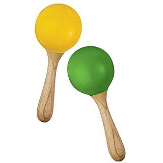 Green Tones 3765 Egg Shaker Handle Maracas