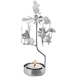 Moomin Rotary Candle Holder Moomin Family Silver