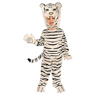 Forum Novelties Plush White Tiger Child Costume, Toddler