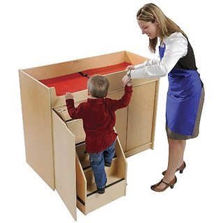 Open-ended hardwood building blocks crafted to standard unit block measurements for ages 2+-Develops core concepts of s