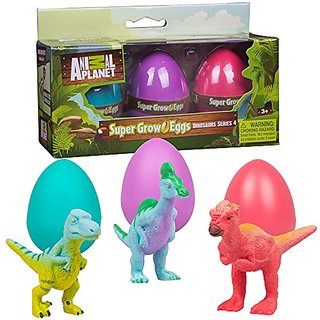 Animal Planet Grow Eggs- Dinosaur- Hatch and Grow Three Different Super-Sized Animals (Series 4)