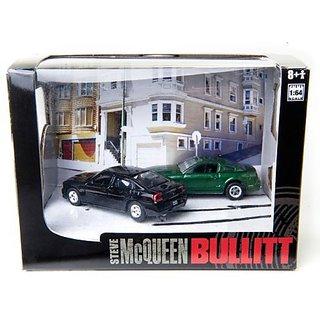 Bullitt Steve McQueen #3 (Modern Bullitt)- 2008 Mustang GT & 2008 Charger SRT8 1 64