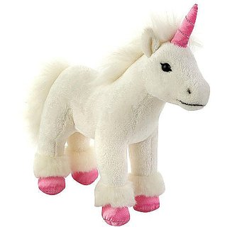 FAO Schwarz 9 inch Miniature Plush Unicorn - White