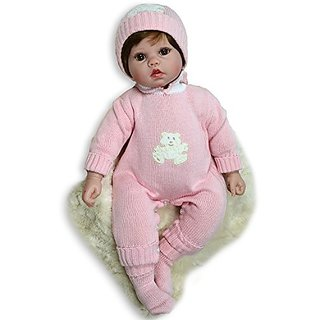 Reborn Baby Girl Doll 20 inches - Weighted baby - Lifelike 20 Inch Doll in a GIft Box - Baby Soft Vinyl