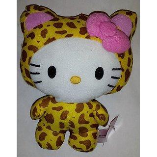 Large 10 Inch Leopard Hello Kitty Big Top Circus Animal Plush Doll