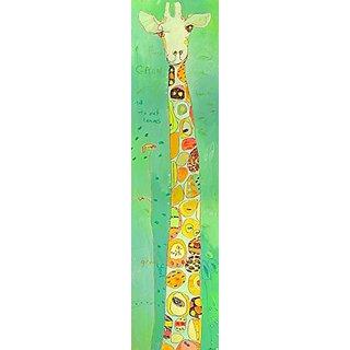 Oopsy Daisy Grow Giraffe by Jennifer Mercede Canvas Wall Art, 12 by 48-Inch