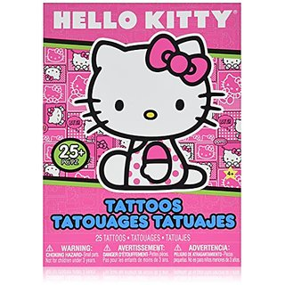 Hello Kitty Temporary Tattoo Book - Great Girls Party Favor