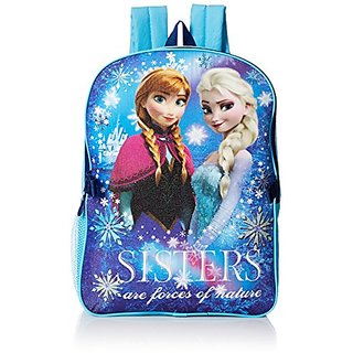 Disney Little Girls Frozen Backpack with Lunch, Blue, One Size
