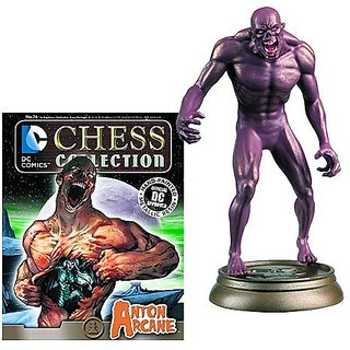 DC SUPERHERO CHESS FIGURINE COLLECTION MAGAZINE #74 ARCANE - BLACK PAWN