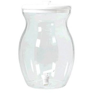 Amscan Plastic Beverage Dispenser with Lid and Spigot Party Tableware, 10.6 quart, Clear Transparent