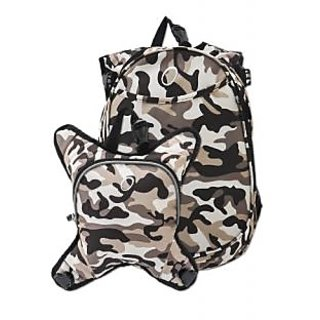 Obersee Munich School Backpack with Detachable Lunch Cooler, Camo
