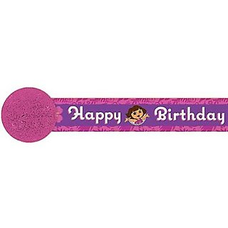 Amscan Quirky Doras Flower Adventure Party Crepe Streamer (1 Piece), Pink Violet, 30