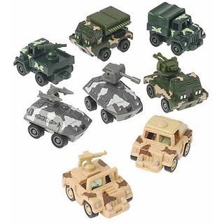 Pull Back Military Vehicles, 12 Count