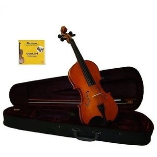 Grace 4 4 (Full) Size Violin for Beginners, Students with Case and Bow, Free Rosin and Extra Set of Merano Brand Strings