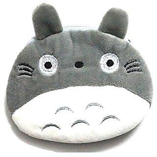 Manc Cute Totoro Plush Purse Pouch, mini Coin Handy Purse Zipper Wallet