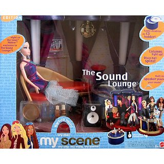 Barbie My Scene Night On The Town The Sound Lounge Playset Special Edition: Working Lights, Disco Ball & More (2003)
