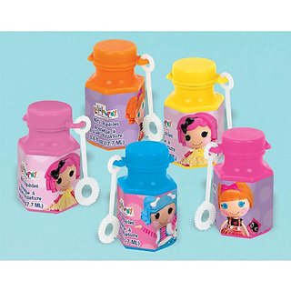 Adorable Lalaloopsy Mini Bubbles Birthday Party Toy Favours (12 Pack), Multi Color, .6 oz.