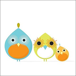 Oopsy Daisy Mod Bird Canvas Wall Art, Trio, 14