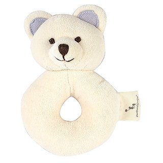 DorDor & GorGor ORGANIC Plush Toy, Dye Free Natural Hue, Bear Rattle