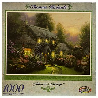 Thomas Kinkade 1000pc. Puzzle-Juliannes Cottage by Ceaco
