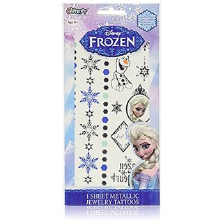 Disney Frozen Princess Elsa Metallic Jewelry Tattoo Kit
