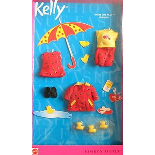 Barbie KELLY Fashion Avenue RAINY DAY PLAY Clothes (2001)