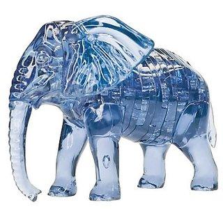 Night Lions Tech(TM) 3D Crystal Puzzle - Elephant crystal puzzle building blocks Set Educational ToyFor Kids