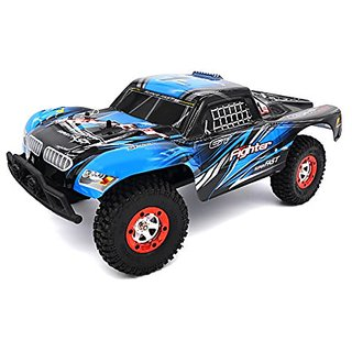 Zerospace Keliwow 1 12 Off-road Car 4WD 2.4G Remote Control RC Car RTR Fighter-1 with Two Car Shell Red and Blue