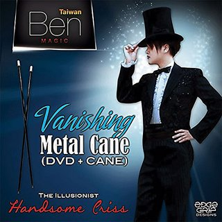 MMS Vanishing Metal Cane (Black) by Taiwan Ben Magic - Trick
